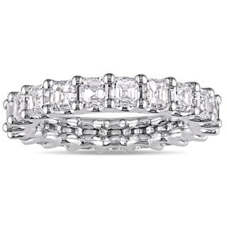 Miadora Signature Collection 18k White Gold 3ct TDW Certified Asscher-Cut Diamond Full-Eternity Ring|https://ak1.ostkcdn.com/images/products/15340044/P21803093.jpg?impolicy=medium