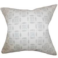 Jeune Geometric 24-inch Down Feather Throw Pillow Gray