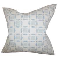 Jeune Geometric 24-inch Down Feather Throw Pillow - Blue