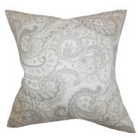 Iphigenia Floral 24-inch Down Feather Throw Pillow - Gray