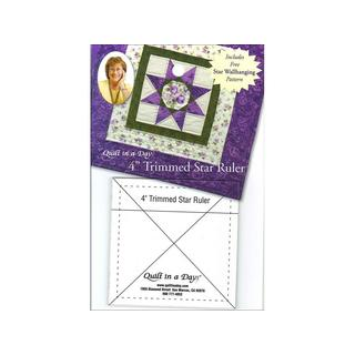 "Quilt In A Day Ruler 4"" Trimmed Star"