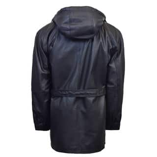 Men's 3/4 Quarter Leather Coat with Hood and Zipout Liner|https://ak1.ostkcdn.com/images/products/15340195/P21803265.jpg?impolicy=medium