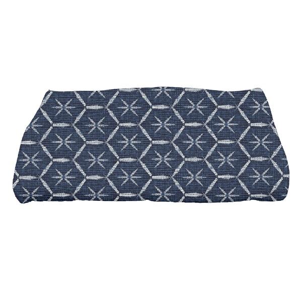 Button Up, Geometric Print Bath Towel