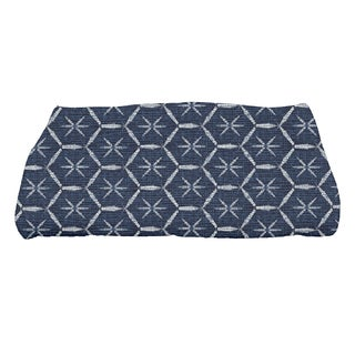 Button Up, Geometric Print Bath Towel
