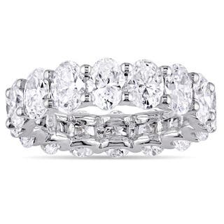 Miadora Signature Collection 18k White Gold 5ct TDW Certified Oval-Cut Diamond Full-Eternity Ring (I|https://ak1.ostkcdn.com/images/products/15340249/P21803314.jpg?impolicy=medium