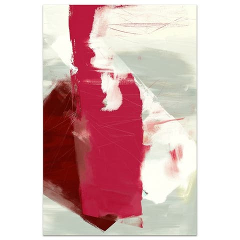 Abstract Graphic Wall Art on Free Floating Tempered Glass Panel