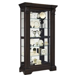 Caldwell Cappuccino Finish Wood Sliding Front Door Curio