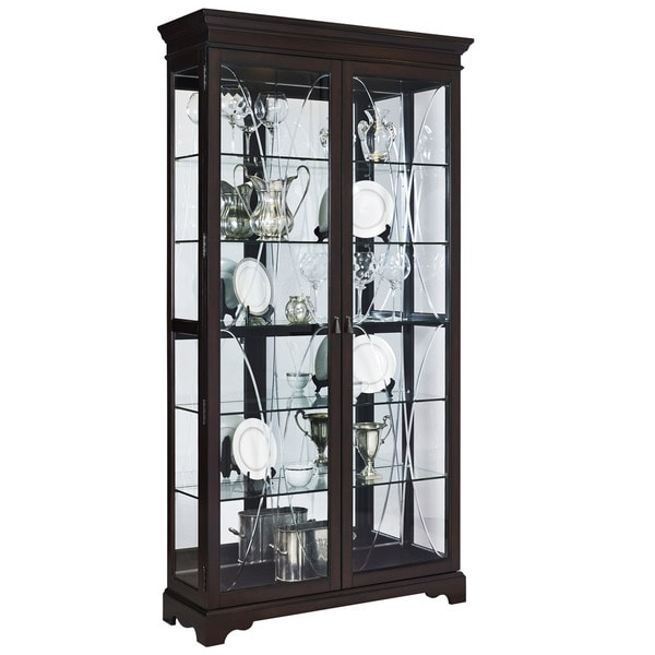 Shop Sable Double Door Curio Free Shipping Today Overstock
