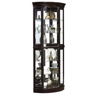 Sable Mirrored Corner Curio