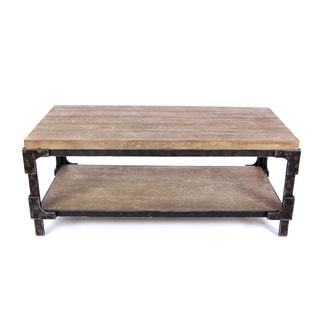 Benzara Brown Solid Wood Coffee Table