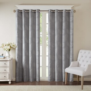 Madison Park Colette Paisley Jacquard Window Curtain Panel with Lining