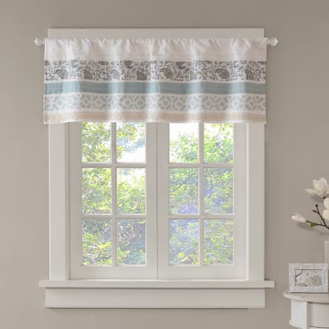 Copper Grove Aleza Shabby Chic Cotton Rod Pocket Valance - 50 x 18