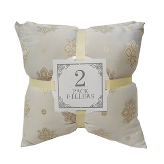 Damask Silk Throw Pillows (2 Pack) by Home Accent Throw Pillows