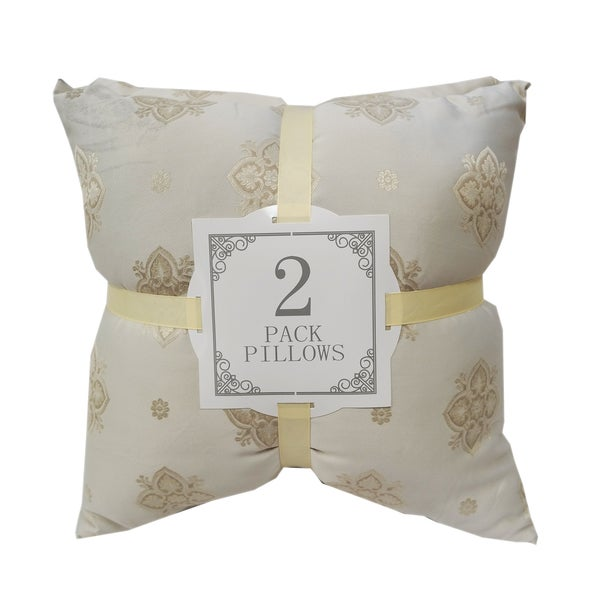 Genial Damask Silk Throw Pillows (2 Pack) By Home Accent Throw Pillows