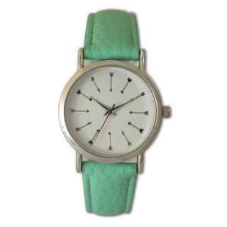 Olivia Pratt Women's Arrow Hour Marker Leather Watch One Size