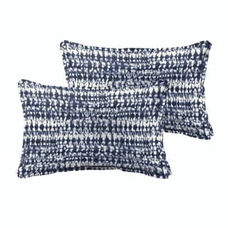 Link to Porter Graphic Indigo and Navy Indoor/ Outdoor 13 x 20 Inch Flange Pillow Set Similar Items in Outdoor Cushions & Pillows