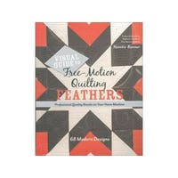 Stash By C&T Free Motion Quilting Feathers Bk