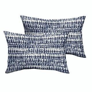 Porter Indigo and Navy Graphic Indoor/ Outdoor 13 x 20-inch Knife Edge Pillow Set