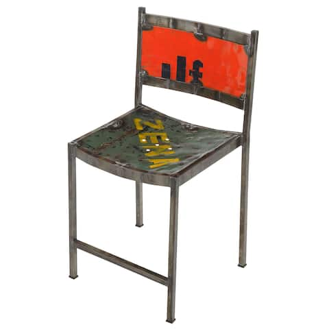 Handmade Zena Recycled Oil Drum Metal & Iron Chair (Bali)