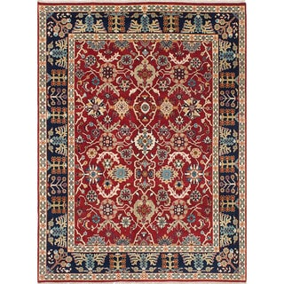 ecarpetgallery Hand-Knotted Serapi Heritage Red  Wool Rug (7'7 x 10'0)