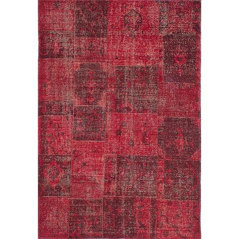 Hand-knotted Herbal Vintage Salmon Wool Rug