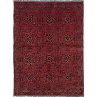 ecarpetgallery Hand-Knotted Finest Khal Mohammadi Red  Wool Rug (5'6 x 7'4)