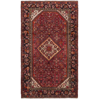 ecarpetgallery Hand-Knotted Borchelu Red  Wool Rug (5'3 x 8'11)