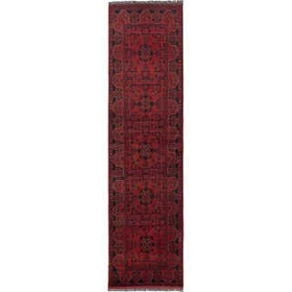 ecarpetgallery Hand-Knotted Finest Khal Mohammadi Red  Wool Rug (2'6 x 9'7)
