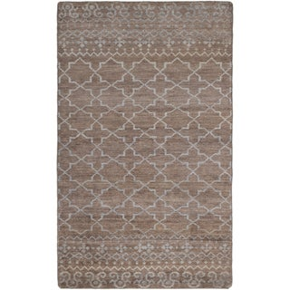 ecarpetgallery Hand-Knotted Eternity Brown Rayon from Bamboo Silk Rug (4'9 x 7'10)