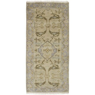 ecarpetgallery Hand-Knotted Royal Ushak Green Wool Rug (2'8 x 6'0)