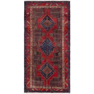 ecarpetgallery Hand-Knotted Zanjan Red Wool Rug (4'11 x 9'9)
