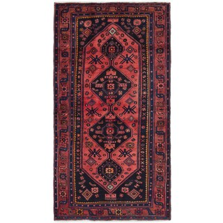 ecarpetgallery Hand-Knotted Zanjan Brown Wool Rug (4'1 x 7'7)