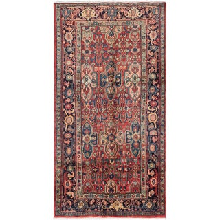 ecarpetgallery Hand-Knotted Meshkin Red  Wool Rug (5'1 x 10'2)