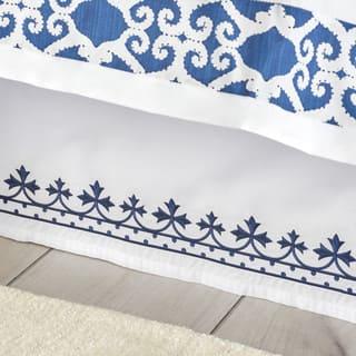 Dena Atelier Indigo Dream Bed Skirt|https://ak1.ostkcdn.com/images/products/15340729/P21803765.jpg?impolicy=medium