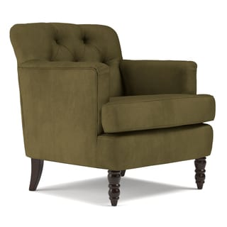 Handy Living Simona Dark Moss Green Microfiber Arm Chair