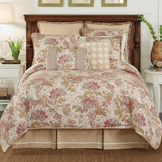 Croscill Camille 4 Piece Comforter Set - Ivory/Red