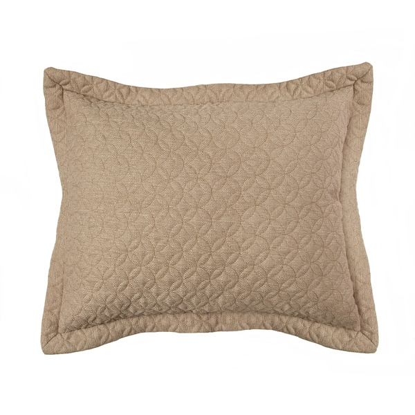 Croscill Fulton Taupe or Brown Quilted Sham