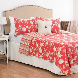 Ocean Coral Cotton 3-piece Quilt Set
