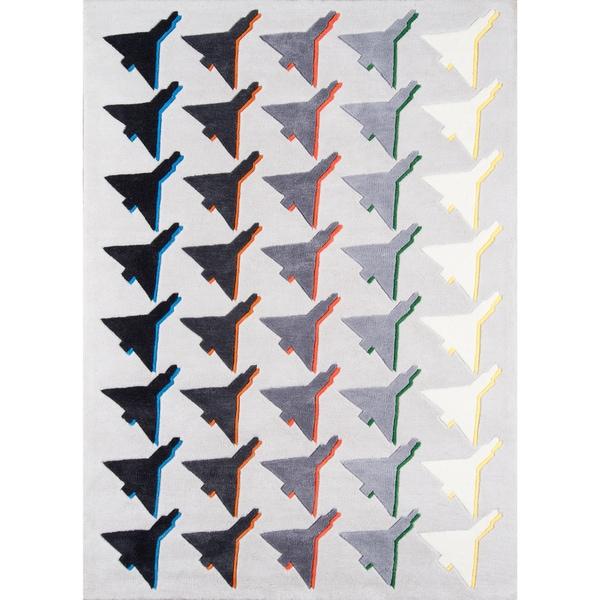 "Novogratz by Momeni Lulu Houndstooth Plane Polyester Hand Tufted Rug - 7'6"" x 9'6"""
