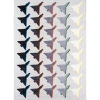 "Novogratz by Momeni Lulu Houndstooth Plane Rug (5' x 7'6') - 5' x 7'6"""