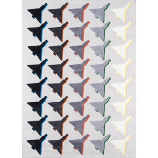 "Novogratz by Momeni Lulu Houndstooth Plane Polyester Hand Tufted Rug - 3'6"" x 5'6"""