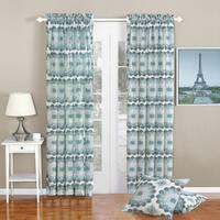 Serenta Delia Printed Rod Pocket Curtain Panel and Pillow Set