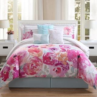 summerville floral 7piece comforter set