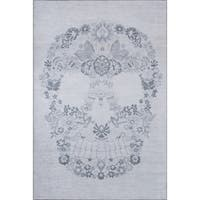 "Novogratz by Momeni District Skull Rug (7'6"" x 9'6"") - 7'6"" x 9'6"""