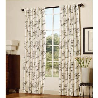 Serenta Embroidery Magnolia Curtain Panel