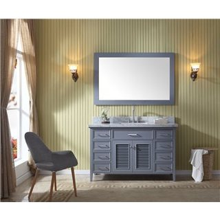 Ariel Kensington Grey 55-inch Single-sink Vanity Set