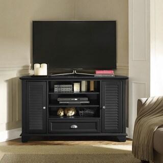 """Palmetto 50"""" Corner TV Stand in Black"""