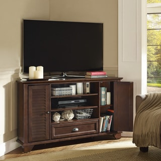 "Palmetto 50"" Corner TV Stand in Mahogany"