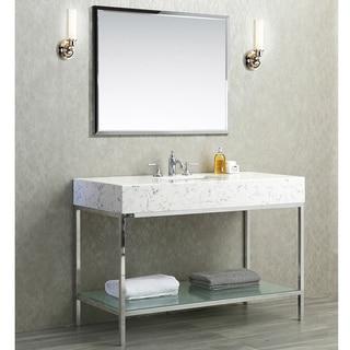 Ariel Seacliff Brightwater Carrera Quartz 48-inch Vanity