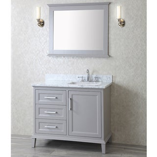 Ariel Seacliff Nantucket In Taupe Grey 42 Inch Vanity Free Shipping Today